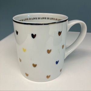 WEST ELM Love Is Love Mug Human Rights Campaign
